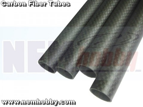 3K Carbon Tube 25x23mm Matt Finish -1mtr