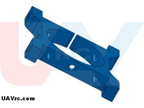 CNC Tube Clamp 30mm Metal -Blue
