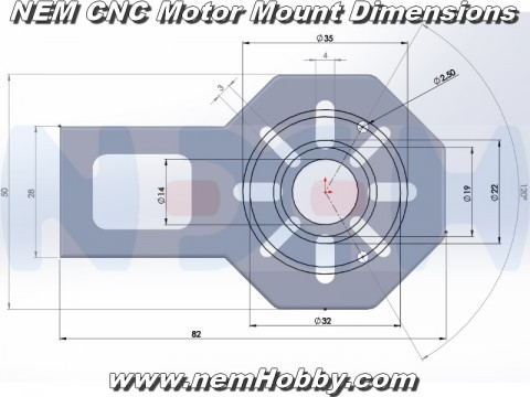 CNC Motor Mount Plate -Silver