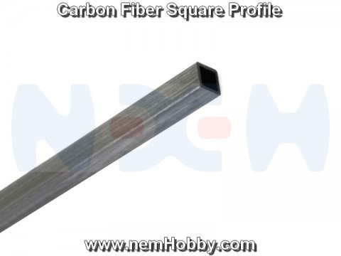 Carbon Fiber Square Bar 4 x 4 x 1000mm