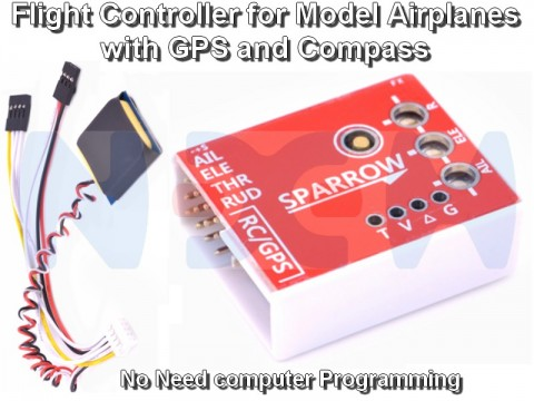 Sparrow Flight Controller with GPS and Compass for RC Airplanes