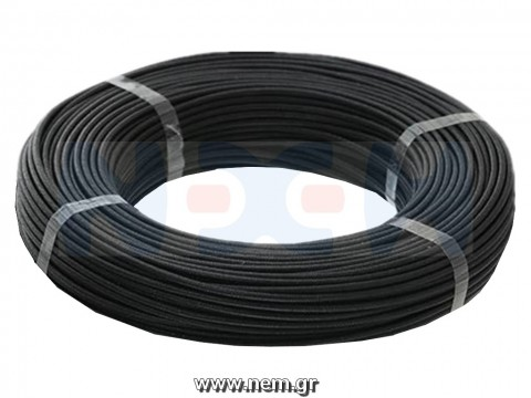 Silicone cable 16AWG x1mtr. -Black