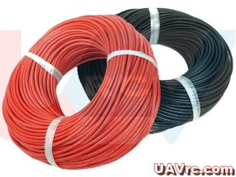 Silicone cable 14AWG x1mtr. -Red