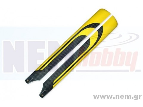 KDS Carbon Rotor Blades 325mm -Yellow-black